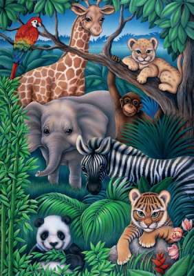 Animal Kingdom (RB08601-6), a 35 piece jigsaw puzzle by Ravensburger. Click to view larger image.