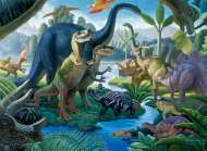 Land of the Giants (Dinosaurs) (RB10740-7), a 100 piece Ravensburger jigsaw puzzle.