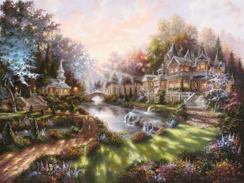 In the Morning Light (RB15944-4), a 1000 piece jigsaw puzzle by Ravensburger. Click to view larger image.