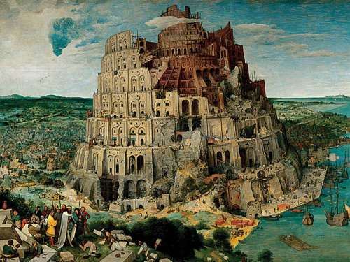 The Tower of Babel (5000pc) (RB17423-2), a 5000 piece jigsaw puzzle by Ravensburger. Click to view larger image.