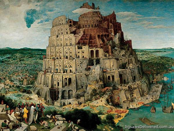The Tower of Babel (5000pc) (RB17423-2), a 5000 piece jigsaw puzzle by Ravensburger.