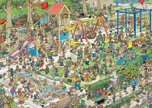 The Playground (JUM01599), a 1000 piece jigsaw puzzle by Jumbo. Click to view larger image.