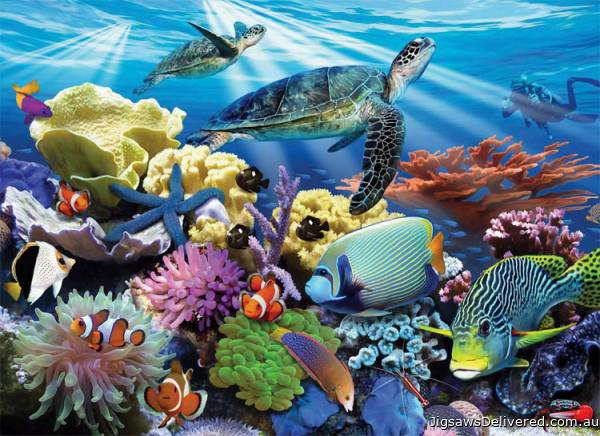 Ocean Turtles (RB12608-8), a 200 piece jigsaw puzzle by Ravensburger.
