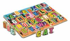 Jumbo ABC Chunky Alphabet (Wooden) (MND3833), a 26 piece Melissa and Doug jigsaw puzzle.