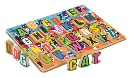 Jumbo ABC Chunky Alphabet (Wooden) (MND3833), a 26 piece jigsaw puzzle by Melissa and Doug.
