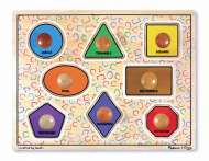 Large Shapes (Wooden Knob Puzzle) (MND3390), a 8 piece Melissa and Doug jigsaw puzzle.