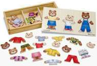 Bear Family Dress-Up (Wooden Puzzle) (MND3770), a 45 piece Melissa and Doug jigsaw puzzle.
