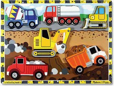 Construction ('Chunky' Wooden Puzzle) (MND3726), a 6 piece jigsaw puzzle by Melissa and Doug.