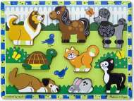 Pets ('Chunky' Wooden Puzzle) (MND3724), a 7 piece Melissa and Doug jigsaw puzzle.