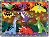 Dinosaurs ('Chunky' Wooden Puzzle) (MND3747), a 7 piece Melissa and Doug jigsaw puzzle.