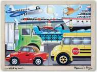 On The Go - Vehicles (Wooden Puzzle) (MND2931), a 12 piece Melissa and Doug jigsaw puzzle.