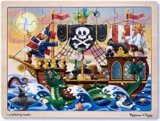 Pirate Adventures (Wooden Puzzle) (MND3800), a 48 piece Melissa and Doug jigsaw puzzle.