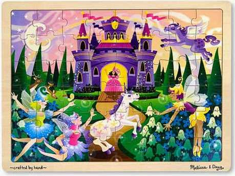 Fairy Fantasy (Wooden Puzzle) (MND3804), a 48 piece jigsaw puzzle by Melissa and Doug. Click to view larger image.