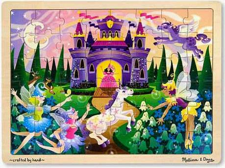 Fairy Fantasy (Wooden Puzzle) (MND3804), a 48 piece jigsaw puzzle by Melissa and Doug.