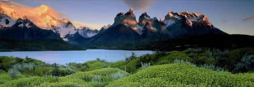 Cuernos del Paine, Patagonia, Chile (HEY29288), a 1000 piece jigsaw puzzle by HEYE. Click to view larger image.