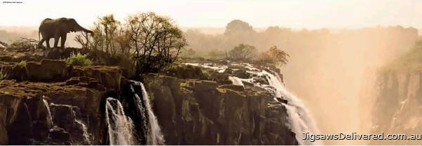 Elephant Waterfall (HEY29287), a 1000 piece jigsaw puzzle by HEYE.