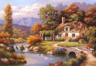 Cottage Stream (8000pc) (EDU14454), a 8000 piece Educa jigsaw puzzle.