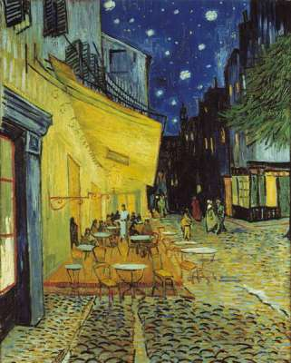 Cafe Terrace at Night (CLE 31470), a 1000 piece jigsaw puzzle by Clementoni. Click to view larger image.