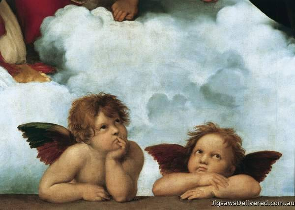 The Sistine Madonna (CLE 31437), a 1000 piece jigsaw puzzle by Clementoni.