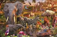 African Animal World (RB17037-1), a 3000 piece Ravensburger jigsaw puzzle.