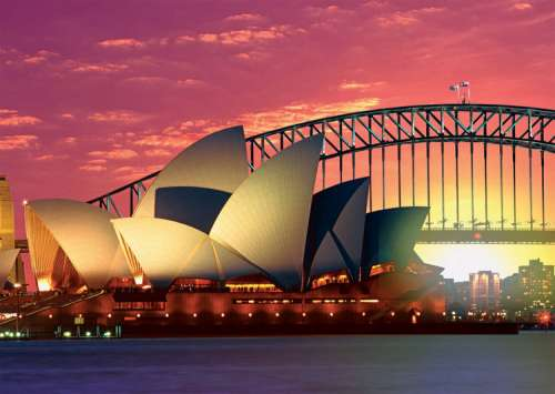 Sydney Opera House & Bridge (RB19211-3), a 1000 piece jigsaw puzzle by Ravensburger. Click to view larger image.