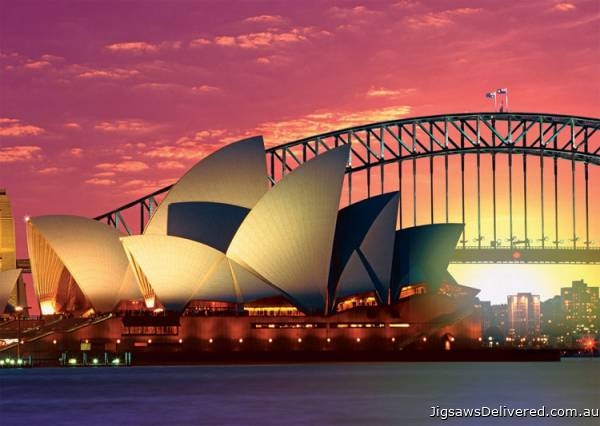 Sydney Opera House & Bridge (RB19211-3), a 1000 piece jigsaw puzzle by Ravensburger.