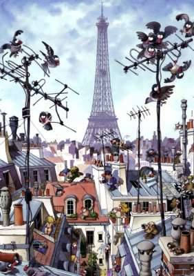 Eiffel Tower, Paris (HEY29358), a 1000 piece jigsaw puzzle by HEYE. Click to view larger image.