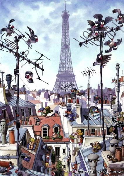 Eiffel Tower, Paris (HEY29358), a 1000 piece jigsaw puzzle by HEYE.