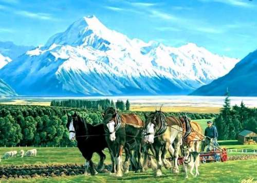 Mount Cook, New Zealand (HOL091393), a 1000 piece jigsaw puzzle by Holdson. Click to view larger image.