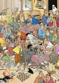 The Chess Club (JUM17278), a 500 piece Jumbo jigsaw puzzle.