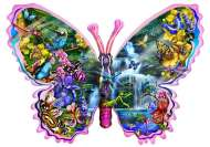 Butterfly Waterfall (Shaped Puzzle) (SUN95234), a 1000 piece Sunsout jigsaw puzzle.