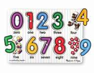 Numbers See-Inside (Wooden Peg Puzzle) (MND3273), a 10 piece Melissa and Doug jigsaw puzzle.