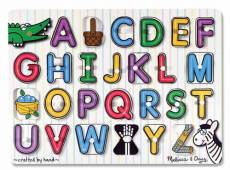 Alphabet See-Inside (Wooden Peg Puzzle) (MND3272), a 26 piece Melissa and Doug jigsaw puzzle.