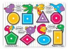 Shapes See-Inside (Wooden Peg Puzzle) (MND3285), a 8 piece Melissa and Doug jigsaw puzzle.
