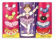 Ballerina Dress-Up Mix 'n Match (Wooden Peg Puzzle) (MND3292), a 9 piece Melissa and Doug jigsaw puzzle.