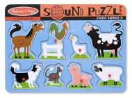 Farm Animals (Wooden Sound Puzzle) (MND726), a 8 piece Melissa and Doug jigsaw puzzle.