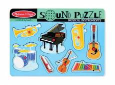 Musical Instruments (Wooden Sound Puzzle) (MND732), a 8 piece Melissa and Doug jigsaw puzzle.