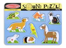 Pets (Wooden Sound Puzzle) (MND730), a 8 piece Melissa and Doug jigsaw puzzle.