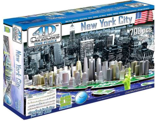 4D Cityscape - New York (VEN000971), a 700 piece jigsaw puzzle by Ventura Games. Click to view larger image.