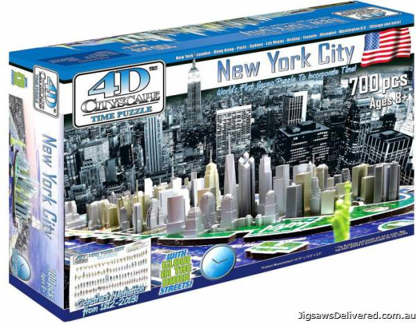4D Cityscape - New York (VEN000971), a 700 piece jigsaw puzzle by Ventura Games.