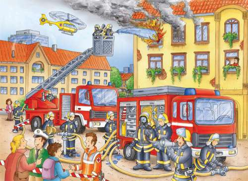 Fire Brigade (RB10822-0), a 100 piece jigsaw puzzle by Ravensburger. Click to view larger image.