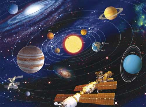 The Solar System (RB12796-2), a 200 piece jigsaw puzzle by Ravensburger. Click to view larger image.