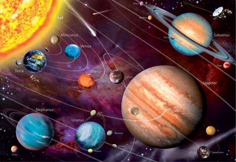 Solar System (Glow in the Dark) (EDU14461), a 1000 piece jigsaw puzzle by Educa. Click to view larger image.