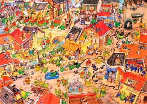Dragontown (HEY29406), a 1000 piece jigsaw puzzle by HEYE. Click to view larger image.