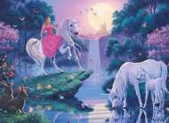Magical Unicorns (RB14117-3), a 500 piece Ravensburger jigsaw puzzle.