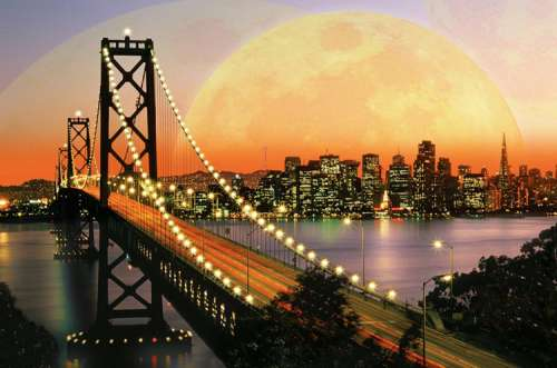 San Francisco at Night (RB17039-5), a 3000 piece jigsaw puzzle by Ravensburger. Click to view larger image.
