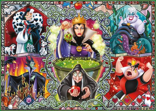Disney's Wicked Women (RB19252-6), a 1000 piece jigsaw puzzle by Ravensburger.