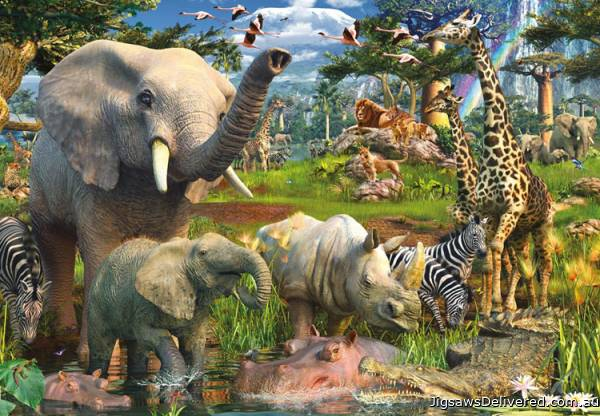 At the Waterhole (18000pc) (RB17823-0), a 18000 piece jigsaw puzzle by Ravensburger.