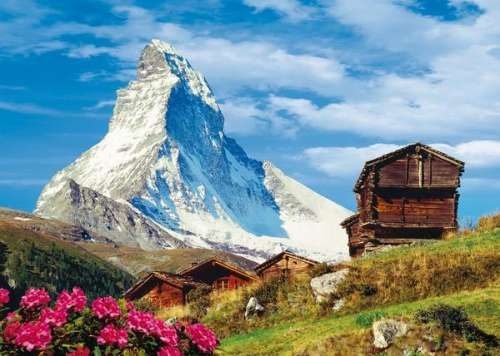 The Matterhorn (CLE 39154), a 1000 piece jigsaw puzzle by Clementoni. Click to view larger image.