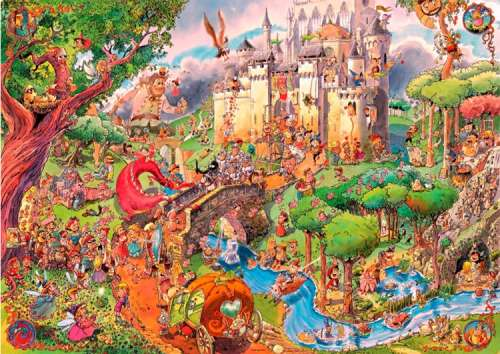 Fairy Tales (HEY29414), a 1500 piece jigsaw puzzle by HEYE. Click to view larger image.